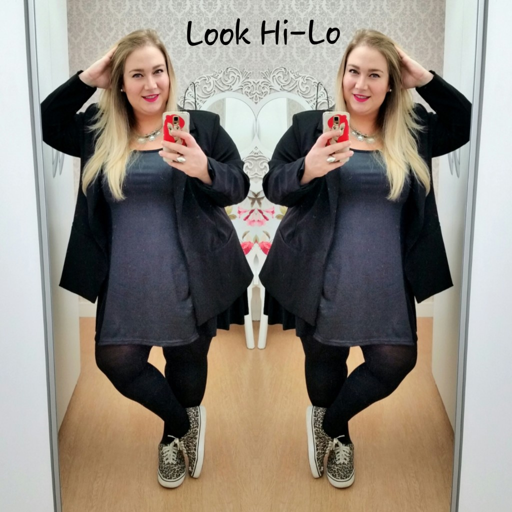look plus size hi-lo lady fofa