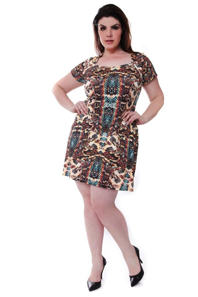 Vestido estampado: R$ 135,00