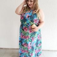 Look festa: Vestido plus size floral longo