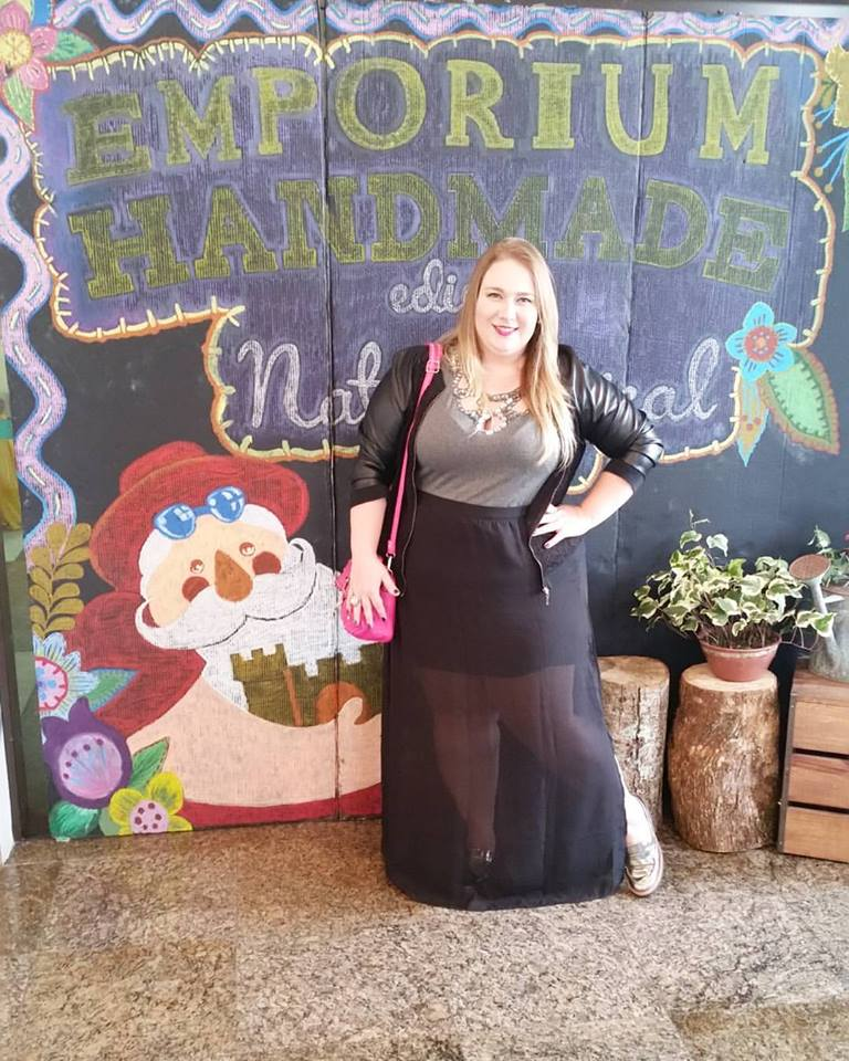look plus size saia longa blog lady fofa